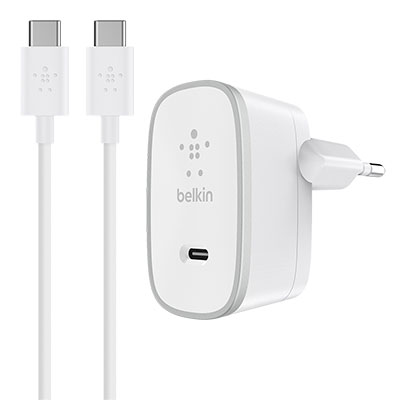 Belkin USB-C Home Charger + USB-C to USB-C Cable - F7U008vf05-WHT